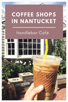 Nantucket is bountiful in blooms and scenic views, and the tiny island isn't sparse when it comes to good food either. Handlebar Cafe, East Coast Travel, Nantucket, Vacation Spots, Coffee Shop, Beverage, Helmet, Things To Come, Anniversary