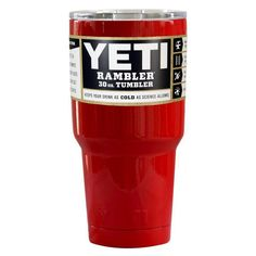 Custom YETI 30 oz Vampire Red Gloss Design Your Own Tumbler