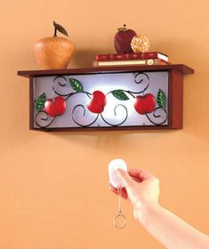 Lighted Wall Shelf with Remote