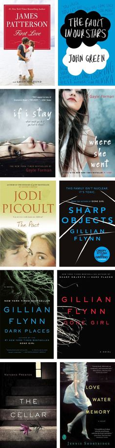 """10 Must-Read Adult Fiction Books *saving this for later- however, I didn't like Sharp Objects!"" DUDE WHAT I LOVED SHARP OBJECTS"