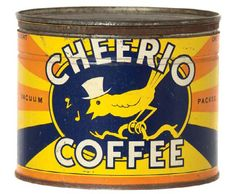 Cheerio Coffee Tin | Antique Advertising Value and Price Guide