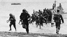 US Marines land on  Guadalcanal during Guadalcanal campaign of the Pacific theater of World war 2, 1942.