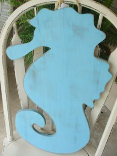 Large wooden Seahorse Single but can be bought in a set of two Great Beachy decor for your home nursery wedding or photo props