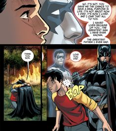 Injustice: Gods Among Us - Year Three 021 -B: Thank you, son. -D: Love you, dad. I may not read enough comics but Dick does not call Bruce Dad that often, right? OK I'm officially overwhelmed by this...