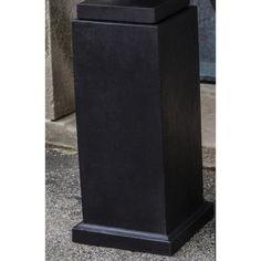 Campania International Mini Cast Stone Pedestal Aged Limestone - PD-206-AL