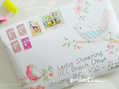 Summer Bird envelope - from BohèmeCircus to Leslie Shewring