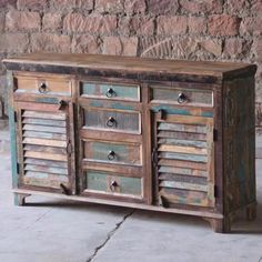 Mary Rose 6 Drawer Reclaimed Wood Sideboard - Modish Living Reclaimed Wood…