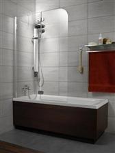 Výsledok vyhľadávania obrázkov pre dopyt vana so sklenenou stenou Shower Enclosure, Kitchen And Bath, Sink, Bathtub, Perfume, House Design, Bathroom, Interior, Home Decor