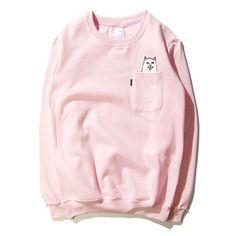 2016 New Mens Ripndip Pockets Cat Pullover hoodies crewneck hiphop ripndip sweatshirt unisex harajuku clothing hoodie,MA191