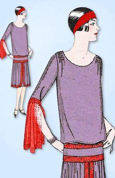 1920s Ladies Home Journal Sewing Pattern 5397 Uncut Misses Cocktail Dress Sz 38B #LadiesHomeJournal #FlapperFrock