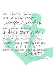 Hebrews 6:19 & 20.