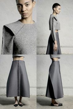 23 ideas origami geometric pattern inspiration for 2019 Minimal Fashion, High Fashion, Winter Fashion, Womens Fashion, Haute Couture Style, Origami Fashion, Fashion Details, Fashion Design, Inspiration Mode
