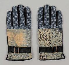 Kapital Indigo Sashiko Gloves are Ghoulishly Cool #winter #mittens trendhunter.com