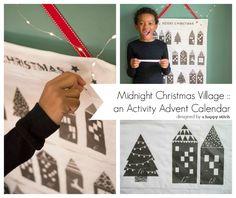 Midnight Christmas Village DIY Advent Activity Calendar | Skip To My Lou | Bloglovin'