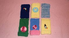 This multi-purpose knitted acrylic yarn case is created for a cell phone, iPhone, MP3 player, glasses, keys or other small objects. I even had one lady who smoked use it to hide her cigarettes!! GRIN
