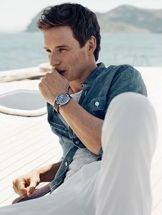 "bespokeredmayne: ""More from the ""aqua"" portion of the new Omega watch Aqua Terra campaign featuring brand ambassador Eddie Redmayne. "" BABE"