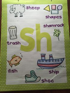 My sh digraph anchor chart