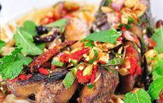 สูตรการทำอาหารไทย: ปลาช่อนลุยสวน