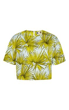 Frond Print Top by MSGM Now Available on Moda Operandi