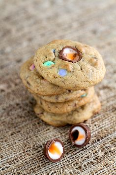 Put extra candy to work in this Easter Candy Cookie, out favorite leftover Easter candy recipe | The Kitchen Magpie