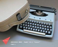 Zbrojovka Brno Consul 231.2 Typewriter 60's. by pinkismycolour