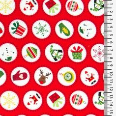 Mini Christmas Spot 1298 - red - Materiale textile online