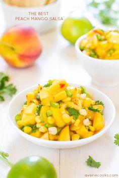 The Best Peach Mango Salsa