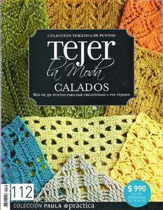 Revistas de manualidades Gratis: Revista Tejer la Moda - Calados Crochet Diagram, Crochet Motif, Knit Crochet, Crochet Hats, Crochet Books, Love Crochet, Crochet Flowers, Crotchet Stitches, Crochet Stitches Patterns