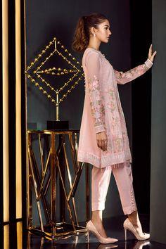 Chiffon pink dress by Baroque Fuschia Collection 2018