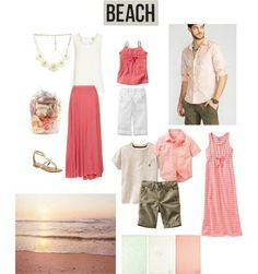 Fashion friday what to wear for family pictures at the beach como combinar Family Portrait Outfits, Family Picture Outfits, Family Portraits, Ideas Hijab, Family Beach Pictures, Beach Pics, Family Pics, Spring Pictures, Bild Outfits