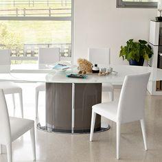 Tavolo Calligaris Echo ceramica vetro bianco | Tavoli da Pranzo ...