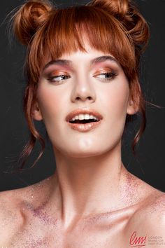 Playful style! Excellent makeup with glitter from LMI students!