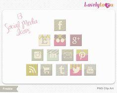 Free social media icons from Lovelytocu.com