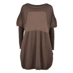 MELLOW: Multi-textured wool oversize sweater-dress.