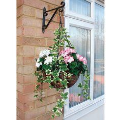 Artificial hanging basket, £20