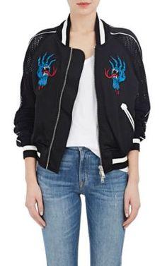 BEN TAVERNITI UNRAVEL PROJECT Deconstructed Satin & Mesh Bomber Jacket. #bentavernitiunravelproject #cloth #jacket
