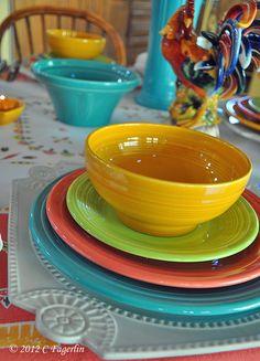 062112+FLAMINGO+TABLE+FOUR+12.jpg 576×800 pixels & Fiesta Ware color combination: navy tangerine lapis turquoise ...