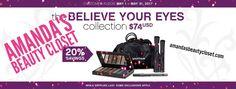 Addiction Eyeshadow Palette Fiber Lash Mascara  Eyeliner Drawstring bag