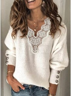 Loose Sweater, Ribbed Sweater, Long Sleeve Sweater, Sweater Sale, Casual Sweaters, Sweaters For Women, Cheap Sweaters, Women's Sweaters, Look Boho Chic