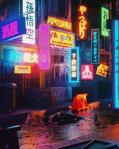 """From Here To Nowhere"": The Superb Sci-Fi, Post-Apocalypse And Cyberpunk Concept Art By Polygonatic – Wallpaper Arte Cyberpunk, Cyberpunk Aesthetic, Cyberpunk City, City Aesthetic, Retro Aesthetic, Aesthetic Light, Purple Aesthetic, Concept Art Landscape, Nam June Paik"