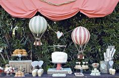 Hot Air Balloon Party Decorations | Sherlock Holmes Party Ideas