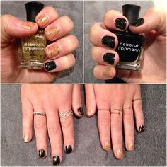 black & gold #manimonday