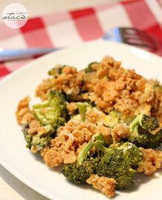 Delicious recipe for Broccoli Casserole made with cream of mushroom soup, Ritz crackers and loads of cheddar cheese.