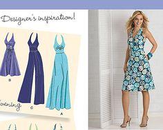 Retro Inspired Halter Dress Pattern Simplicity 2401 by StitchySpot