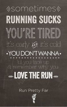 Because once you listen to that first song....you know you can run for miles.