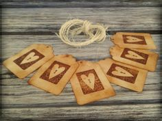 Antique aged vintage rustic heart tags by ArtisanKawaiismith