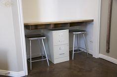 Love!  Closet turned minimal home office