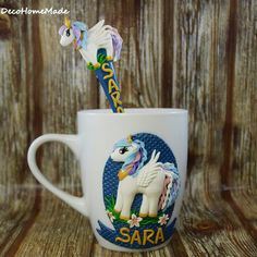 My little pony - polymer clay mug & spoon