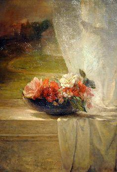John La Farge - Flowers on a Window
