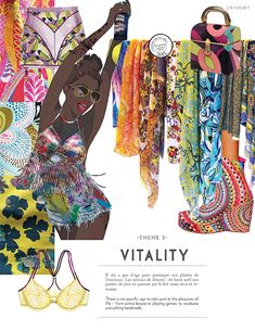 #Colors #SS17 ~  VITALITY ~ FASHION VIGNETTE: TRENDS // INTERFILIERE - INTIMATES . SS 2017